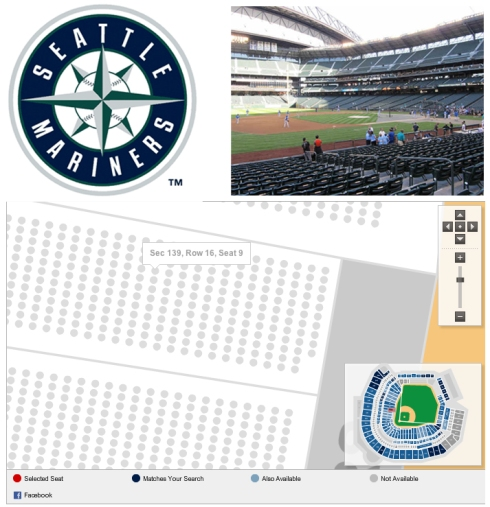 Safeco Field layout for website